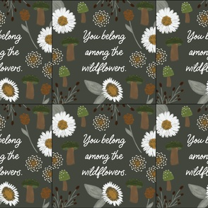 6 loveys: you belong among the wildflowers green