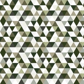 """1/2"""" triangles: seaweed, latte, sage, forest, olive"""