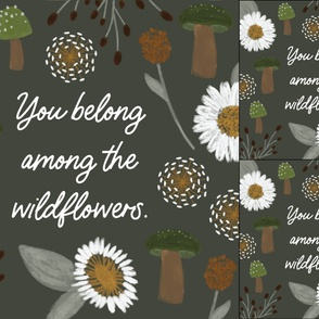 1 blanket + 2 loveys: you belong among the wildflowers green