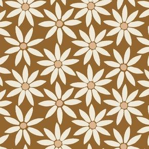 Sunflower Tiles on Rich fall Brown