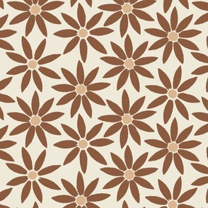 Sunflower Tiles in Mahogany Brown