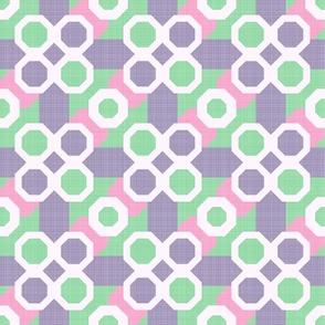 Geometric Pink, Green, Lilac