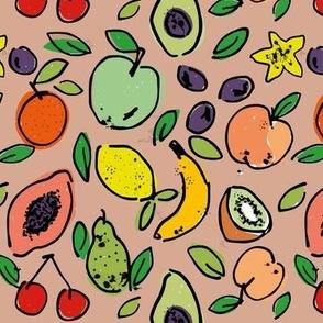 Fruit Doodle - Mushroom