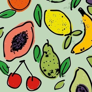 Fruit Doodle - Pale apple