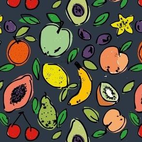 Fruit Doodle - Slate