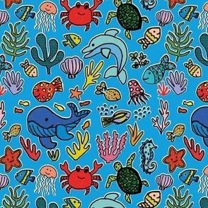 Under the sea - Beach Blue