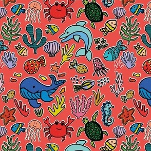 Under the sea - Coral Red