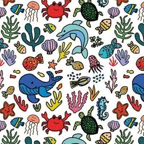 Under the Sea - White