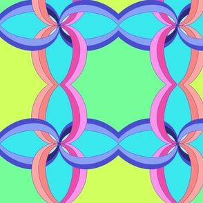 80's Retro Pinwheel in Neon