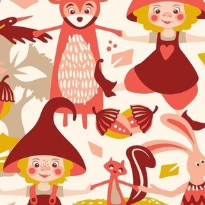 Forest gnomes dance / Large scale