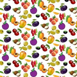 stone fruit pattern