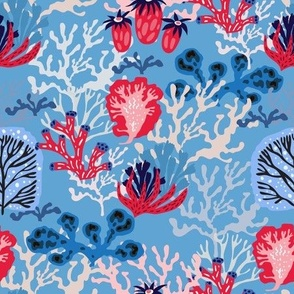 Seaweeds and corals pattern1