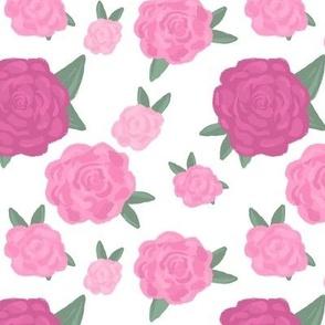 Blooming English Roses white