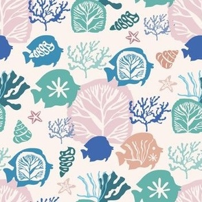 Sea fish pattern 12