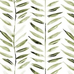 khaki tropical chevron - leaves herringbone - watercolor nature a393-10