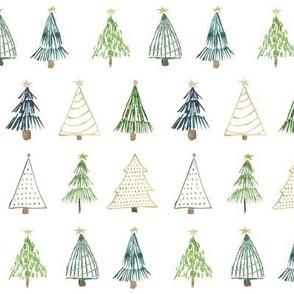 Boho Christmas Trees