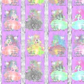 8 Princesses - Purple (fat quarter sized)