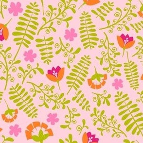 Ferns and Blooms -Otomi