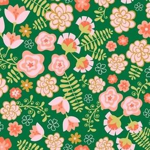 Fiesta Flowers -Verde