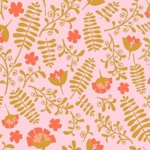 Ferns and Blooms -Verde