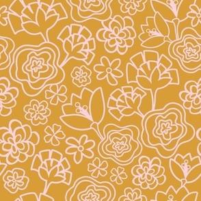 Flower Confetti -Verde