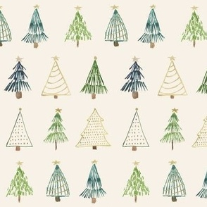 Boho Christmas Trees / Cloud