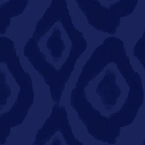 Dark Blue Ikat