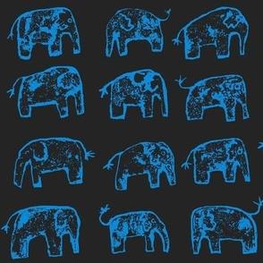 elephant walk!  black & blue