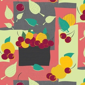Bowl of juicy stone fruit
