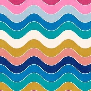 """Groovy Rainbow Waves 9"""""""