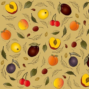 stone fruit in the wind