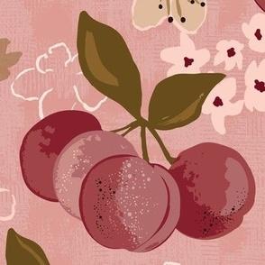 stone fruit plum tree plum blossoms large scale
