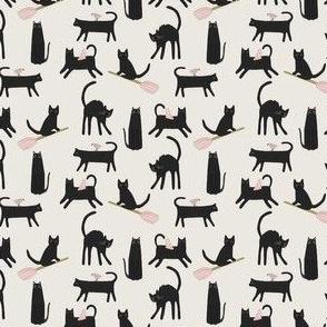 Spooky Halloween Black Cats mini