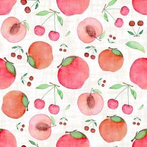 Watercolour Stone fruit