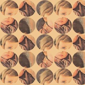 crying boy in circles