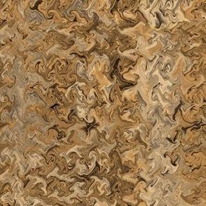 Caramel Brown Marble Waves