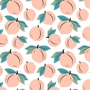 Peach peaches pastel fruit