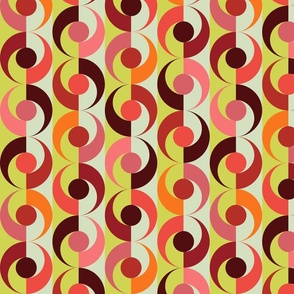 stone fruit - peaches and cherries - fruits fabric
