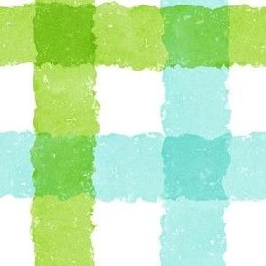 Watercolor Plaid V2 - Blue Green
