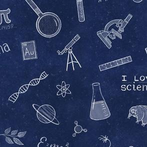 Chalkboard Science Doodles