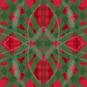 Passionfruit Red Green plaid