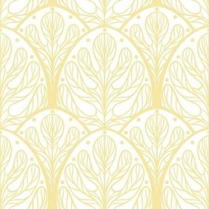 Art Deco Autumn Oak Leaf - Medium