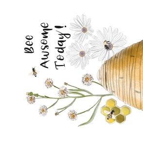 Beehive Tea Towel by JAF Studio