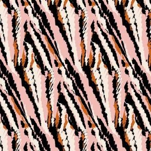 doodle stripes diagonal pink
