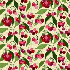 My Cherry Amour; Half Drop on Hazy Yellow,   ( )  version