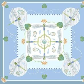 Dragonfly Squares Lotus Pond