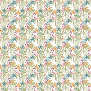 Flamingos on white small scale