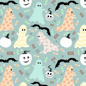 Pastel Ghosts Trick Or Treat