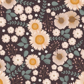 Anna Floral - Mulberry LARGE SCALE
