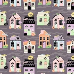 Pastel Halloween Houses